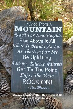 Rustic Sign  Mountain  Nature  Lake House by CarovaBeachCrafts