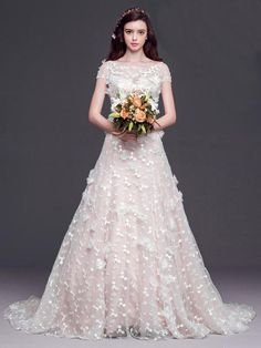 Long Pretty Wedding Dress,cute Wedding Dress,cap Sleeves Wedding Dress,lace  Up Lovely Wedding Dress,cheap Wedding Dress ,bridal Dresses,WD17197 From ...