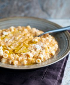 Comfort food, pasta e ceci
