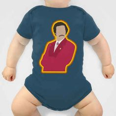 Omg so perf for King since we LOVE anchorman Anchorman 's Ron Burgundy | 36 Onesies For The Coolest Baby You Know