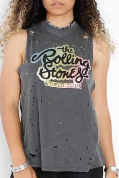 Daydreamer Rolling Stones Glitter Top - Libby Story