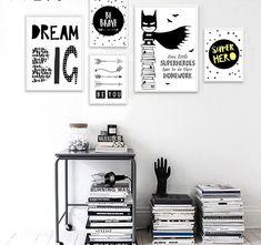 Batman Room Decor, Batman Wall Art, Kids Room Paint, Kids Room Wall Art, Room Art, Canvas Quotes, Wall Art Quotes, Canvas Poster, Wall Canvas