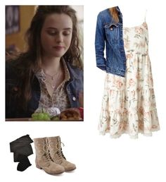 """""""Hannah Baker - 13 reasons why / 13rw"""" by shadyannon ❤ liked on Polyvore featuring Miss Selfridge, Trasparenze, Steve Madden and J.Crew"""
