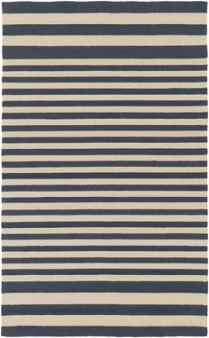 Navy Salute Striped Rug