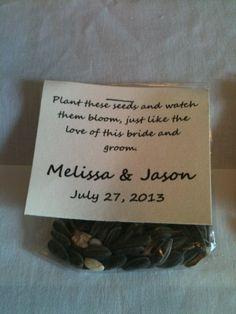 25 Custom Sunflower Wedding Favors by MelissasAdventures on Etsy, $20.00