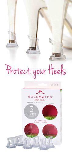 Protect your heels and prevent the from sinking into the grass on your wedding day and everyday.  Free Shipping on orders over $40 and 10% off when you provide your email.  Shop Now or forever hold your peace.
