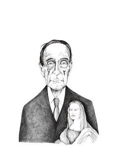 Marcel Duchamp und seine Mona Moustache │ jompitz