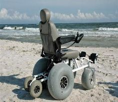 Powered Beach Wheelchair... now THAT'S what I'm talkin about.