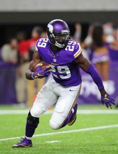 55cb865ab Xavier Rhodes of the Minnesota Vikings carries the ball after intercepting  New York Giants quarterback Eli