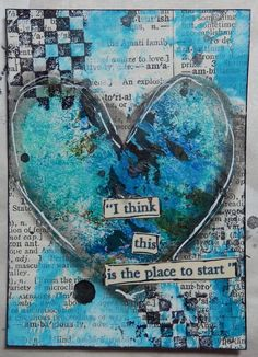 Mixed Media Heart ATC by Christy Houser