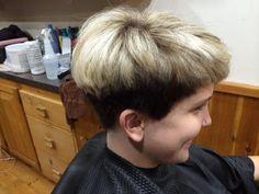 Sirenna's school hairdo 4