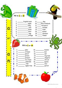 Articles 'a' and 'an' for Beginners worksheet - Free ESL printable worksheets made by teachers