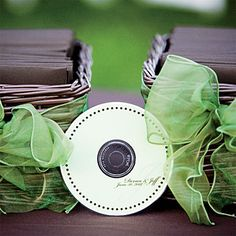 CD Favors with favorite tunes of bride and groom