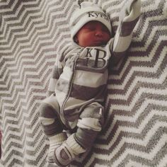 My newborn baby boy Kyrie Irving Baker in his coming home outfit from Twirly Bird Designs at Etsy.com!