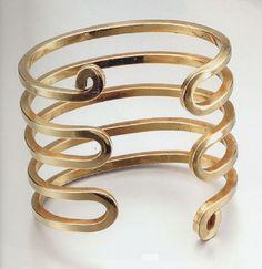 Cuff bracelet by Alexander Calder, 1948