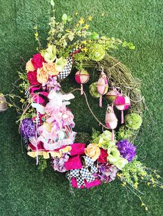 Custom Spring wreath from Holiday Warehouse
