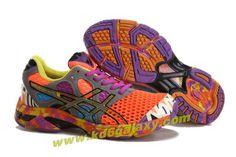 Womens Asics Gel Noosa TRI 7 Neon Orange Dark Grey Purple Yellow