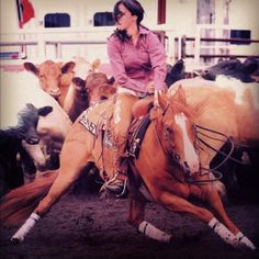 Cutting horse.. I seriously want to try this one day.