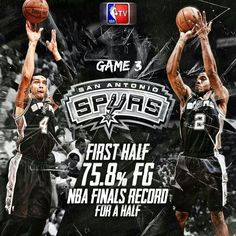 NBA Finals 2014 Game 3 San Antonio Spurs NBA Field Goals Record