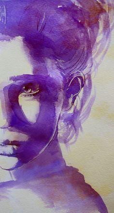 mujer violeta: