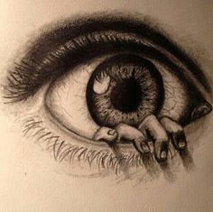 drawings of creepy eyes Scary Drawings, Amazing Drawings, Beautiful Drawings, Amazing Art, Eye Drawings, Drawing Eyes, Eyeball Drawing, Beautiful Pictures, Drawing Sketches