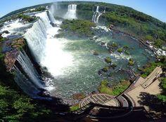 Iguazu Falls on the border of Brazil and Argentina