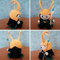 1500 Free Amigurumi Patterns - this site is awesome, and it has a free crochet pattern for both Thor AND Loki!