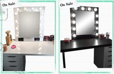 Hollywood Vanity Mirror, Vanity Mirrors, Custom Mirrors, Custom Vanity, Mirror With Lights, Better Life, Home Goods, Rooms, Check
