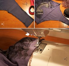 """How to make a t-shirt bodysuit     I was actually looking for how to do this to some BLOUSES/shirts that are too short - so they stay tucked in; wonder if this would work and/or be comfortable; I never wore bodysuits when they were """"in""""...  LLM"""