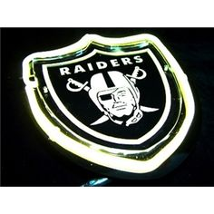 NFL Oakland Raiders Neon Sign Raiders Stuff, Raiders Girl, Neon Light Signs, Neon Signs, Oakland Raiders Football, Presents For Him, Raider Nation, Sports Figures, Nfl Jerseys