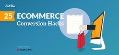 eCommerce conversion hacks that you need to try today for higher sales!   #ecommerce #infographic #conversionrateoptimization #conversionoptimization #growthhacking
