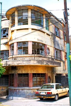 Cuernavaca, Mexico  Streamline Moderne building in a city about an hour south of Mexico City. Needs TLC!