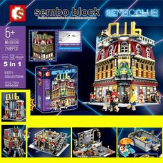 Nightclub Bar, Stacking Blocks, Light Building, Toy Sale, Natural Disasters, Hotels And Resorts, Night Club, Brick, Usb