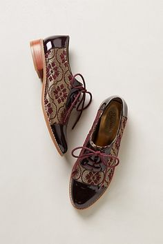 Elsie Oxfords #anthropologie Love these! I adore clothes that look carpet-y.