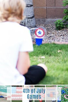 These 4th of July games are guaranteed to be entertaining! From glow-in-the-dark ring toss to balloon dart there is something for everyone! 4th Of July Games, 4th Of July Party, July 4th, Independence Day Game, Ring Toss, Game 4, July Crafts, Outdoor Parties, Favorite Holiday