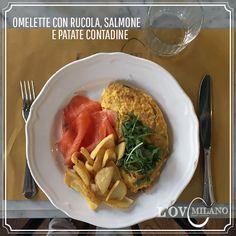Omelette con Rucola, Salmone e Patate Contadine - L'OV Milano - www.lovmilano.com