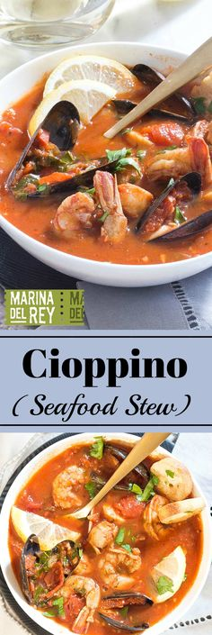 Cioppino is an easy, flavorful meal that celebrates the fabulous flavors of the sea - scallops, shrimp, mussels!