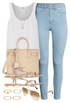 """Style #7526"" by vany-alvarado ❤ liked on Polyvore featuring H&M, LnA, Yves Saint Laurent, ASOS, Forever 21, Ray-Ban and Minor Obsessions"