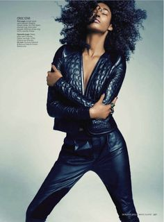 visual optimism; daily fashion fix.: the leather principle: sessilee lopez by tesh for us marie claire october 2012