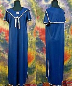VTG 70s Fit Rite Lingerie Nautical Ship Wheel Sailor Nylon Slip Dress Nightgown  | eBay