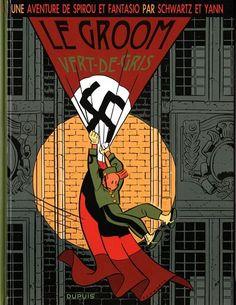 Les aventures de Spirou et Fantasio, Le Groom vert-de-gris par Yann et Schwartz /// Toujours confronté à la guerre, Spirou est bien moins neutre que dans la plupart des autres albums. Il est engagé dans un combat, certes clandestin mais réel, contre l'occupant. Le dessin de Schwartz me rappelle celui de Franquin lorsqu'il a pris la succession de Rob-Vel.