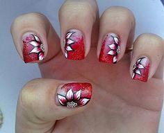 67 Fotos de uñas color rojo - Red Nails | Decoración de Uñas - Manicura y Nail Art