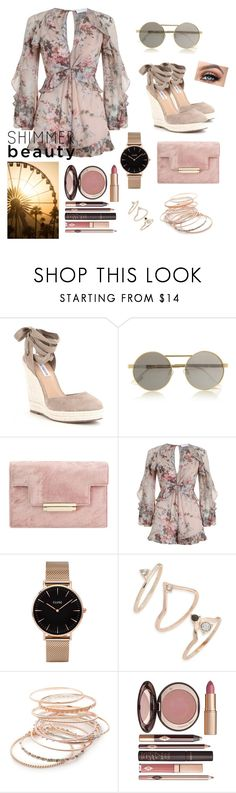 """Coachella?"" by twistedwreackage ❤ liked on Polyvore featuring Le Specs, Zimmermann, CLUSE, Topshop, Red Camel and Charlotte Tilbury"