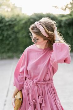 Pink Dress, Rhode Resort Dress, Pink Headband, Headband Outfit