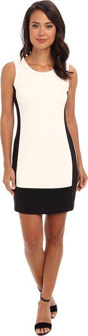 Calvin Klein Women's Two-Tone Ponte Sheath Dress Eggshell Black Dress $34.99 http://www.amazon.com/dp/B00Q5TO4QG/?tag=httplorealbew-20
