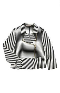 Juicy Couture Stripe Moto Jacket (Toddler Girls, Little Girls & Big Girls) available at #Nordstrom