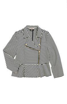 Juicy Couture Stripe Moto Jacket (Toddler Girls, Little Girls & Big Girls) | Nordstrom