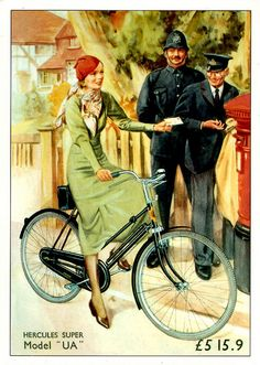 For Pure Fun, Leisure As Well As Excercise, I Pick Mountain Bicycle Riding - Bike riding Velo Vintage, Vintage Cycles, Vintage Bikes, Vintage Ads, Old Bicycle, Bicycle Art, Bicycle Design, Illustration Photo, Illustrations