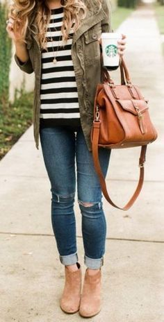 cute fall outfit with booties