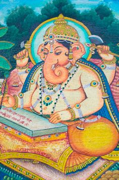Lord Ganesha Jai Ganesh, Shree Ganesh, Ganesha Art, Lord Ganesha, World Mythology, Chinese Mythology, Gods And Goddesses, Deities, Traditional Art